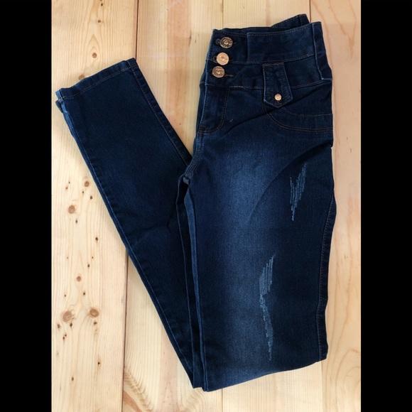 Pasion Jeans Pasin Usa Denim Blu Jeans Sz 5 Skinny Poshmark